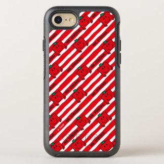Capa Para iPhone 8/7 OtterBox Symmetry Teste padrão das listras do vermelho do Sr. Forte