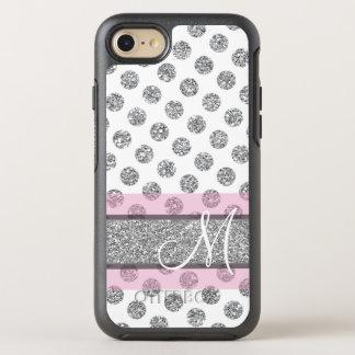 Capa Para iPhone 8/7 OtterBox Symmetry Teste padrão de bolinhas de prata do brilho com
