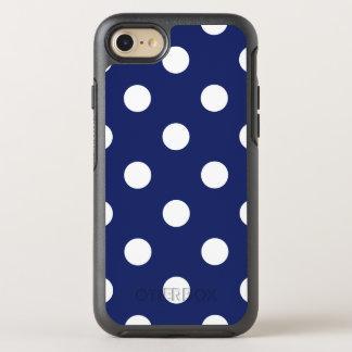 Capa Para iPhone 8/7 OtterBox Symmetry Teste padrão de bolinhas dos azuis marinhos e do