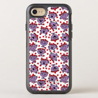Capa Para iPhone 8/7 OtterBox Symmetry Teste padrão de bolinhas vermelho pequeno da