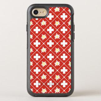 Capa Para iPhone 8/7 OtterBox Symmetry Teste padrão de Edelweiss da suiça