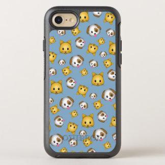 Capa Para iPhone 8/7 OtterBox Symmetry Teste padrão de Emoji dos gatos e dos cães