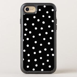 Capa Para iPhone 8/7 OtterBox Symmetry Teste padrão de pontos preto e branco dos confetes