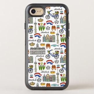 Capa Para iPhone 8/7 OtterBox Symmetry Teste padrão do Doodle de Netherland