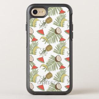 Capa Para iPhone 8/7 OtterBox Symmetry Teste padrão do esboço da fruta tropical