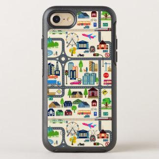 Capa Para iPhone 8/7 OtterBox Symmetry Teste padrão do mapa da cidade