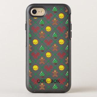 Capa Para iPhone 8/7 OtterBox Symmetry Teste padrão do Natal do tênis