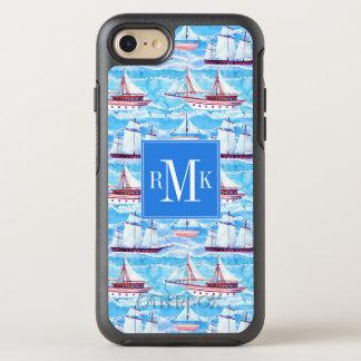 Capa Para iPhone 8/7 OtterBox Symmetry Teste padrão dos navios de navigação da aguarela