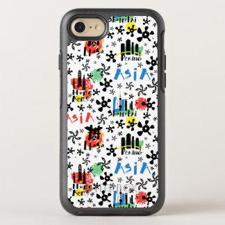 Capa Para iPhone 8/7 OtterBox Symmetry Teste padrão dos símbolos de Ásia |