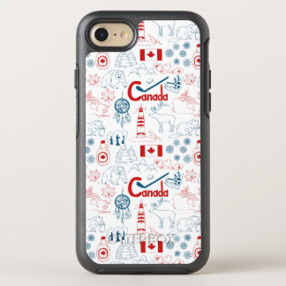 Capa Para iPhone 8/7 OtterBox Symmetry Teste padrão dos símbolos de Canadá |