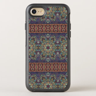 Capa Para iPhone 8/7 OtterBox Symmetry Teste padrão floral étnico abstrato colorido da