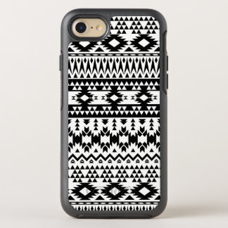 Capa Para iPhone 8/7 OtterBox Symmetry Teste padrão geométrico asteca preto e branco do