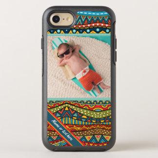Capa Para iPhone 8/7 OtterBox Symmetry Teste padrão geométrico colorido do divertimento