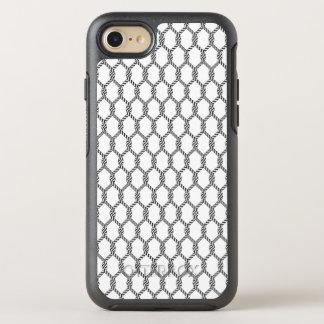 Capa Para iPhone 8/7 OtterBox Symmetry Teste padrão náutico preto e branco da corda