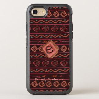 Capa Para iPhone 8/7 OtterBox Symmetry Teste padrão tribal de Boho com personalização