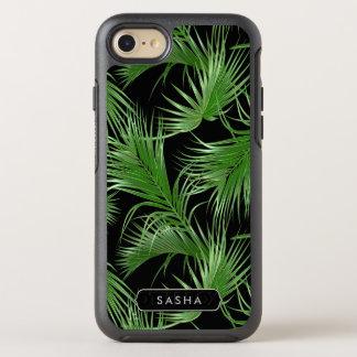 Capa Para iPhone 8/7 OtterBox Symmetry Teste padrão tropical luxúria da palma com nome ou