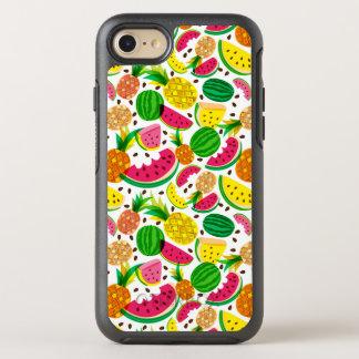 Capa Para iPhone 8/7 OtterBox Symmetry Teste padrão vermelho & amarelo da fruta tropical