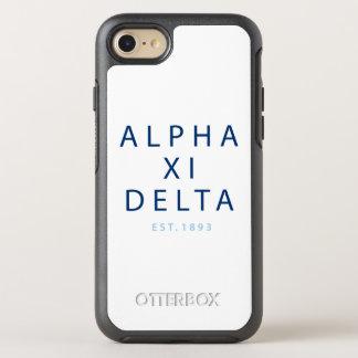 Capa Para iPhone 8/7 OtterBox Symmetry Tipo moderno do delta do alfa Xi