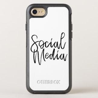 Capa Para iPhone 8/7 OtterBox Symmetry Tipografia social dos amantes dos meios