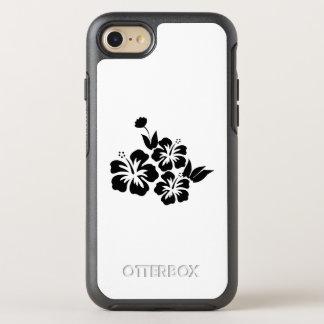 Capa Para iPhone 8/7 OtterBox Symmetry Três flores tropicais do hibiscus preto