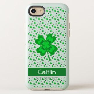 Capa Para iPhone 8/7 OtterBox Symmetry Trevo afortunado do primavera e nome verde do