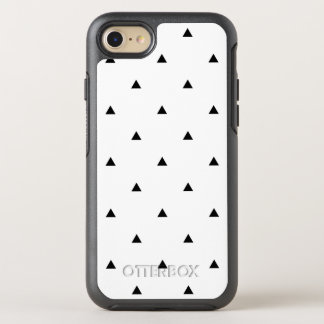 Capa Para iPhone 8/7 OtterBox Symmetry Triângulos geométricos brancos pretos elegantes do