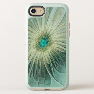 Capa Para iPhone 8/7 OtterBox Symmetry Trigo abstrato moderno de turquesa da flor da