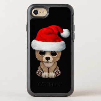 Capa Para iPhone 8/7 OtterBox Symmetry Urso do bebê que veste um chapéu do papai noel