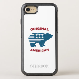 Capa Para iPhone 8/7 OtterBox Symmetry Urso original da tipografia dos Estados Unidos do