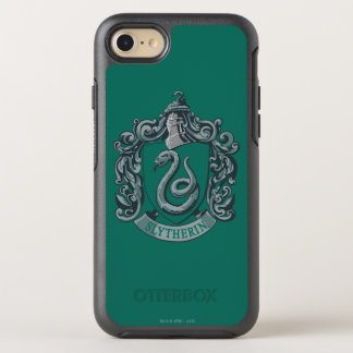 Capa Para iPhone 8/7 OtterBox Symmetry Verde da crista de Harry Potter | Slytherin