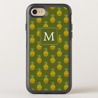Capa Para iPhone 8/7 OtterBox Symmetry Verde do monograma | & abacaxis do ouro