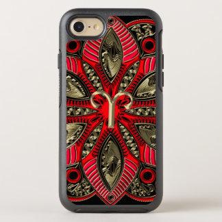 Capa Para iPhone 8/7 OtterBox Symmetry Vermelho e Aries do sinal do zodíaco do ouro