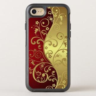 Capa Para iPhone 8/7 OtterBox Symmetry Vermelho e ouro com as videiras no caso do