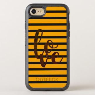 Capa Para iPhone 8/7 OtterBox Symmetry Vibrante simples legal da palavra alaranjada do