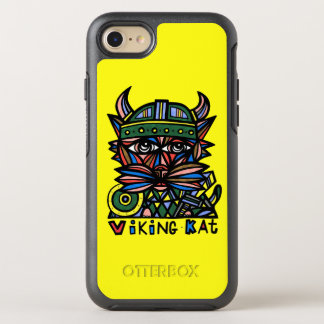"Capa Para iPhone 8/7 OtterBox Symmetry ""Viking Kat"" Apple & exemplo de Samsung Otterbox"