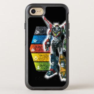 Capa Para iPhone 8/7 OtterBox Symmetry Voltron | Voltron e pilotos gráficos