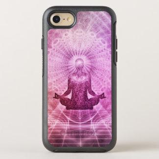 Capa Para iPhone 8/7 OtterBox Symmetry Zen espiritual da meditação da ioga colorido