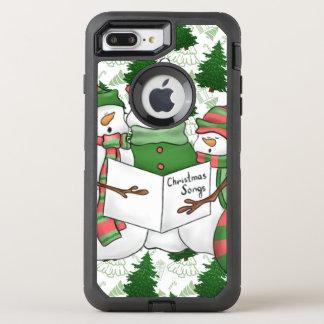 Capa Para iPhone 8 Plus/7 Plus OtterBox Defender 3 Carolers do boneco de neve