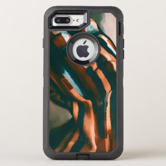 Capa Para iPhone 8 Plus/7 Plus OtterBox Defender A senhora pintada dos tigres e das ondas