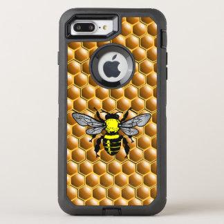 Capa Para iPhone 8 Plus/7 Plus OtterBox Defender Abelha do mel no exemplo do apicultor do favo de