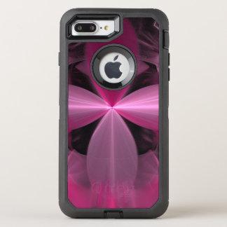 Capa Para iPhone 8 Plus/7 Plus OtterBox Defender Abstrato cor-de-rosa de roda das pétalas da flor