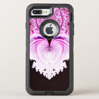 Capa Para iPhone 8 Plus/7 Plus OtterBox Defender Abstrato cor-de-rosa gelado do coração