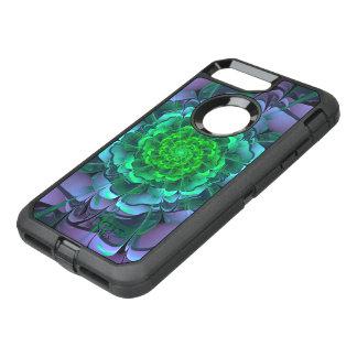 Capa Para iPhone 8 Plus/7 Plus OtterBox Defender Aeonium roxo & verde bonito Arboreum Zwartkop