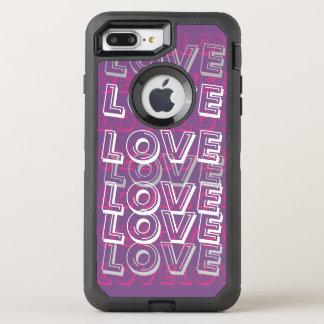 Capa Para iPhone 8 Plus/7 Plus OtterBox Defender Amor, Purrple & caso cor-de-rosa de Otterbox
