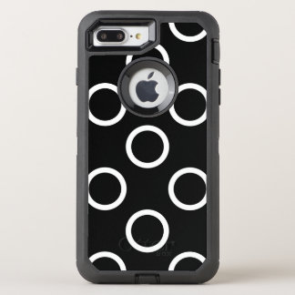 Capa Para iPhone 8 Plus/7 Plus OtterBox Defender Anéis das bolinhas - branco