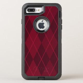 Capa Para iPhone 8 Plus/7 Plus OtterBox Defender Argyle vermelho