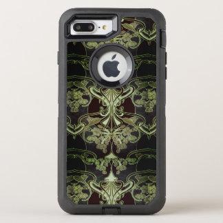 Capa Para iPhone 8 Plus/7 Plus OtterBox Defender Arte floral Nouveau do vintage
