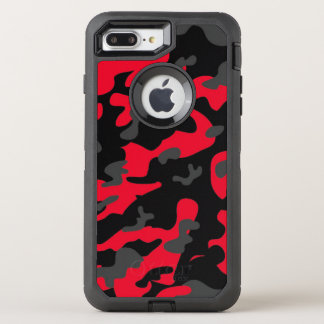 Capa Para iPhone 8 Plus/7 Plus OtterBox Defender As forças armadas pretas vermelhas do exército de