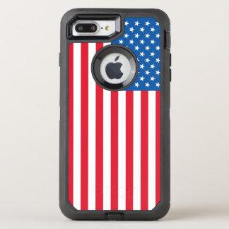 Capa Para iPhone 8 Plus/7 Plus OtterBox Defender Bandeira dos Estados Unidos da bandeira dos EUA