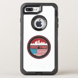 Capa Para iPhone 8 Plus/7 Plus OtterBox Defender Bandeira dos Estados Unidos da skyline | de New